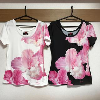 ダチュラ(DaTuRa)の新品♡DaTuRa♡ビッグフラワーTシャツ♡2枚セット♡まとめ売り♡(Tシャツ(半袖/袖なし))