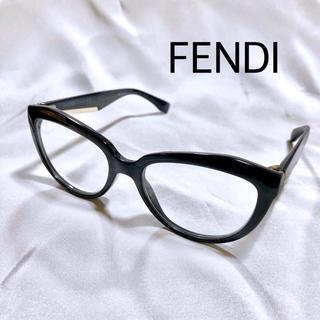 フェンディ(FENDI)のFENDI フェンディ メガネ 純正レザーケース付き 伊達眼鏡 ユニセックス(サングラス/メガネ)