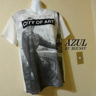 アズールバイマウジー(AZUL by moussy)のAZUL BY MOUSSYアズール♡シフォンお洒落絵柄Tシャツ(Tシャツ(半袖/袖なし))