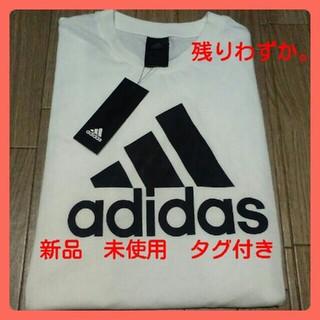 アディダス(adidas)の新品 アディダスTシャツ 白✖黒(Tシャツ(半袖/袖なし))
