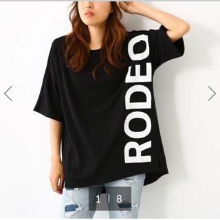 ロデオクラウンズワイドボウル(RODEO CROWNS WIDE BOWL)のRCWB♡サイドロゴTシャツ ブラック(Tシャツ(半袖/袖なし))