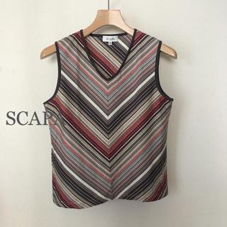 スキャパ(SCAPA)のスキャパ SCAPA ノースリーブ サイズ40 綿100%(カットソー(半袖/袖なし))