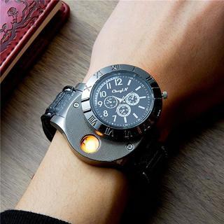 ★大幅値下げ!★腕時計とライターが一緒になった!デザインも◯(腕時計(アナログ))