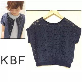 ケービーエフ(KBF)の【 KBF 】2wayレースカットソー(カットソー(半袖/袖なし))