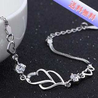CZシルバー925ブレスレット ホワイトダイヤモンド(ブレスレット/バングル)