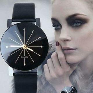TA254 送料無料♪ガラスウォッチ 12面カット メンズ単品(腕時計(アナログ))
