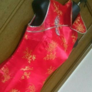 【美品】チャイナドレス 襟付き(その他ドレス)