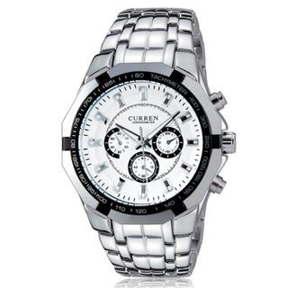 TB115 送料無料♪メンズステンレス腕時計☆CURREN♪白面(腕時計(アナログ))