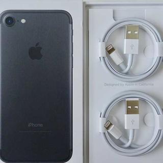 アップル(Apple)の2個 純正 ライトニングケーブル  Apple iPhone(バッテリー/充電器)