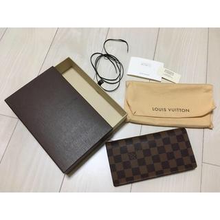 ルイヴィトン(LOUIS VUITTON)のLOUIS VUITTON ダミエ 長財布(長財布)