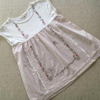 ニットプランナー(KP)の(120㎝)■ケーピー/KP■半袖チュニック(Tシャツ/カットソー)
