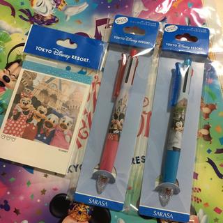 ディズニー(Disney)のメモ帳&ボールペン2本(ペン/マーカー)