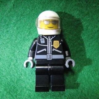 レゴ(Lego)のレゴ-LEGO★フィグ★ヘルメットにサングラスの警察官★新品★送料無料(積み木/ブロック)