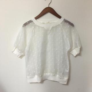 ジーユー(GU)のGU 新品 トップス(シャツ/ブラウス(半袖/袖なし))