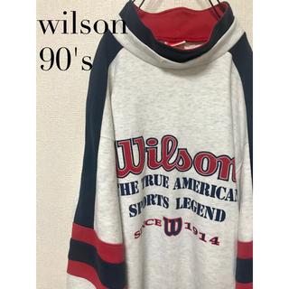 wilson - 90's 古着 Wilson ビッグロゴ トレーナー スウェット L