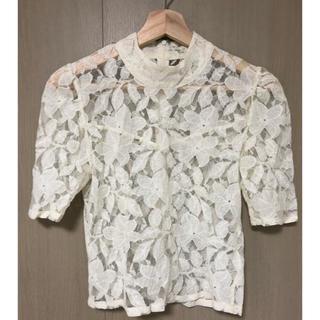 ムルーア(MURUA)のmurua ムルーア  レース トップス  半袖 白 オフホワイト(カットソー(半袖/袖なし))