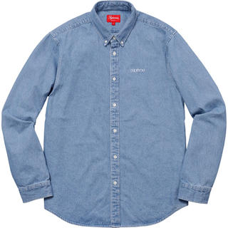 シュプリーム(Supreme)のSupreme Washed Denim Twill Shirt S(シャツ)