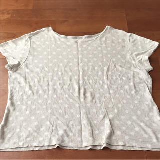 フォーティファイブアール(45R)の45R  リネンドットTシャツ(Tシャツ(半袖/袖なし))