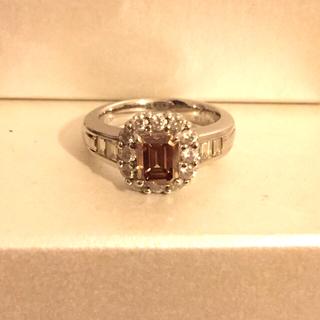ジュエリーツツミ(JEWELRY TSUTSUMI)のブラウンダイヤモンドリング 鑑定書つき(リング(指輪))