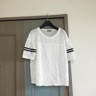 シスレー(Sisley)のシスレー カットソー チュニック カットーレースTシャツ(Tシャツ(半袖/袖なし))