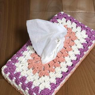 かぎ針編み☆ティッシュBOXカバー、さくらさくら(ティッシュボックス)