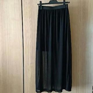 GU - ジーユー GU ブラック シースルー ロングスカート