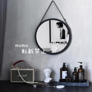 ラウンドミラー♡壁掛け♡かがみ♡鏡♡丸型♡ブラック♡モダンインテリア♡モノトーン(壁掛けミラー)