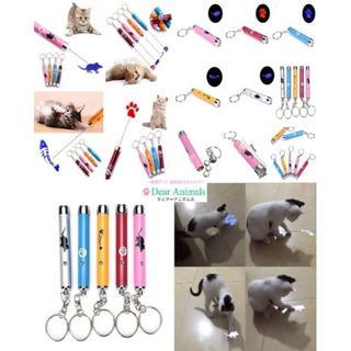 猫  猫のおもちゃ♪ 大変お得な5色5本セット♪ 交換用電池も5本分付きです♪(猫)