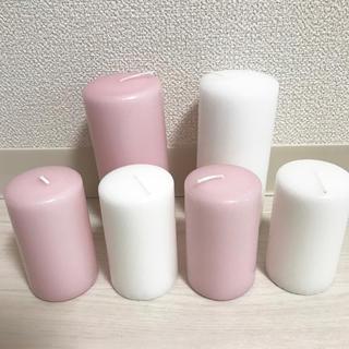 ♡ピンク&ホワイトキャンドル♡(キャンドル)