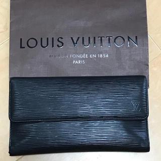 ルイヴィトン(LOUIS VUITTON)のルイヴィトン 黒エピ 3つ折長財布 正規品 (財布)