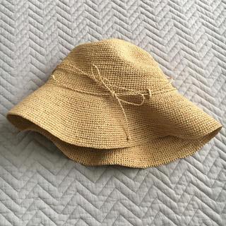 ムジルシリョウヒン(MUJI (無印良品))のサイズ調整できるラフィアたためるつば広キャペリン 55~57.5cm・生成 (麦わら帽子/ストローハット)