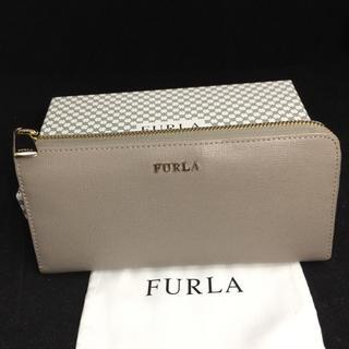 024f4cc760f1 フルラ(Furla)のFURLA フルラ エンボスレザー ライトグレー L字ファスナー 長財布