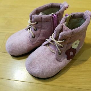 ニットプランナー(KP)のニットプランナー ブーツ17cm ピンク 花(ブーツ)
