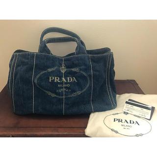 PRADA - プラダカナパ デニムLサイズ
