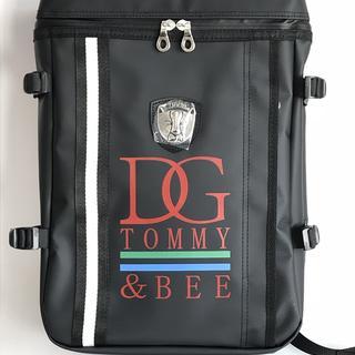 TOMMY&BEE 完全防水 本革 スクエア型リュックサック レッド(その他)