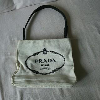 PRADA - プラダ 正規品 リメイク カナパデカロゴ トートバッグ カナパ