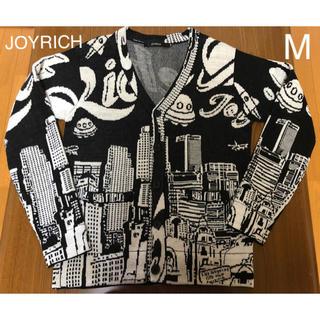 ジョイリッチ(JOYRICH)の【中古】JOYRICH / 前背面ロゴ「RICH」カーディガン M(カーディガン)