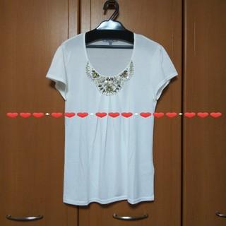 ビアッジョブルー(VIAGGIO BLU)のビアッジョブルービジューカットソー(カットソー(半袖/袖なし))