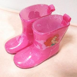 ディズニー(Disney)の☆ディズニー キッズ長靴 15cm☆アリエルレインブーツ/長靴プリンセス(長靴/レインシューズ)