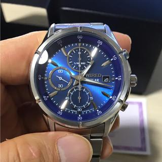 ワイアード(WIRED)のセイコー ワイアード AGAD058 クォーツ ソーラー クロノグラフ ブルー(腕時計(アナログ))