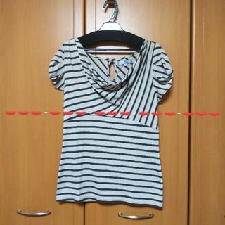 ビアッジョブルー(VIAGGIO BLU)の超美品ビアッジョブルーボーダーカットソー(カットソー(半袖/袖なし))