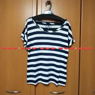ビアッジョブルー(VIAGGIO BLU)のビアッジョブルーボーダーチェーンカットソー       (カットソー(半袖/袖なし))