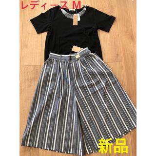 シマムラ(しまむら)のTシャツ パンツ Mサイズ 新品(Tシャツ(半袖/袖なし))