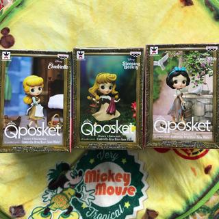 ディズニー(Disney)の最新作! qposket petit 3種セット シンデレラ オーロラ 白雪姫(アニメ/ゲーム)