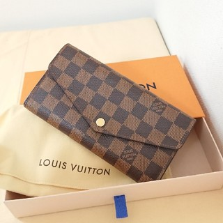 LOUIS VUITTON - 極美品 正規品ルイヴィトン 新型 ダミエ ポルトフォイユ サラ 長財布 付属品込