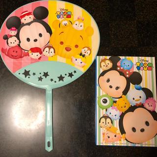 ディズニー(Disney)の TSUM  TSUM 団扇ハンドタオルセット(タオル)
