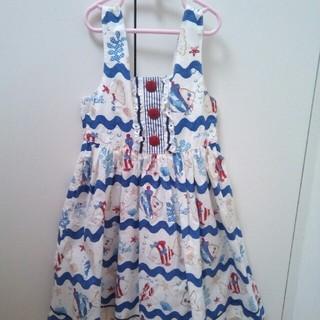 シャーリーテンプル(Shirley Temple)のシャーリーテンプルおさかなジャンパースカート120(ワンピース)