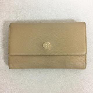 シャネル(CHANEL)のぷらぷら様御専用 CHANEL お財布 折財布 二つ折り 財布 ベージュ(財布)