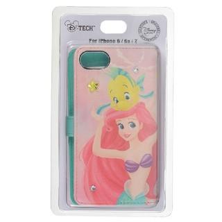 ディズニー(Disney)のiphone6/6s/7用スマホケースカバー アリエル&フランダー(iPhoneケース)