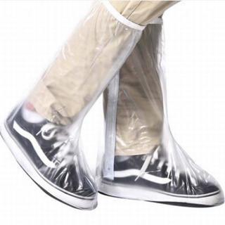 透明レインシューズカバー♪ノンスリップ反射仕様サイズL(長靴/レインシューズ)